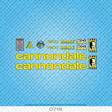Cannondale F500 Bicycle Decals - Transfers - Stickers - Yellow - Set 0719