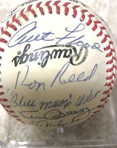 Autographed Signed Baseball 22 Sigs Curt Flood  Williams Campaneris Beckett HOF