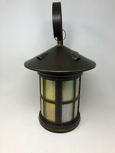 Troy Lighting B7856 Carriage House Oil Rubbed Bronze and Stain Glass Wall Lamp