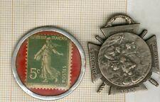 médaile décoration journée du poilu 1915 + timbre monnaie 1920