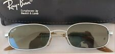 VINTAGE B&L RAY BAN W2192 SIDESTREET SILVER G15 RECTANGULAR SUNGLASSES NEW