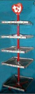 "Ty Beanie Teenie Babies Store 24"" 5 Shelf Display Stand Spinner Carousel Rack"