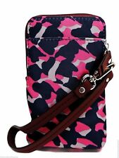 Fossil Key Per Carryall Wristlet Handbag Pink Cheetah Print Zip Clutch New! NWT