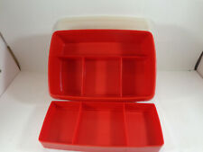 TUPPERWARE STOW N GO 3-PC SECTIONED CRAFT HOBBY ORGANIZER BOX