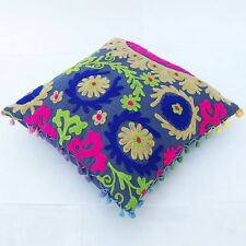 Hand Made cushion Cover Car Decor 16x16'' Suzanne Embroidered Pillow Case BMHFN5