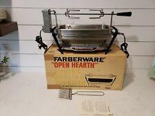 Vintage FARBERWARE OPEN HEARTH ELECTRIC BROILER & ROTISSERIE 455A