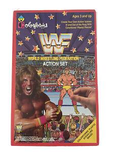 WWF 1990 Vtg Wrestling Colorforms Action Sticker Set Hulk Hogan Randy Savage