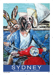 GILLIE AND MARC. Direct from artists. Authentic artistic poster Sydney travel