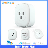 Smart WIFI Plug Socket US 16A Power Monitor Time APP Remote Control Alexa Google