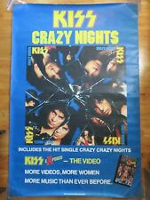 1987 KISS Crazy Nights Plus eXposed The Video Promo Poster PAUL PETER GENE ACE
