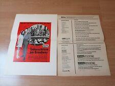 1 Kleinplakat + Anzeigematern  : Todesschüsse am Broadway - Zustand 2