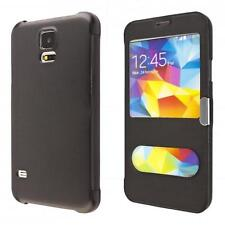 Samsung Galaxy S5 i9600 portafoglio custodia nero wallet case cover