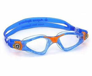 Aqua Sphere Kayenne Jr - Kids Swimming Goggles - Clear Lens - Blue (170970)