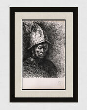 1960 PABLO PICASSO Lithograph REMBRANDT'S MAN WITH A GOLDEN HELMET Framed COA