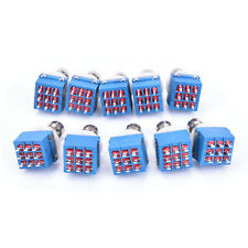 10pcs 9-pin 3PDT Guitars Effects Pedal Box Stomp Foot Metals Switch True Bypass
