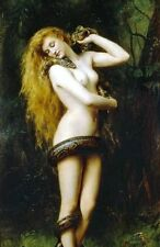Lilith Nude With Snake PHOTO Art Print,Collier 1886,Naked Breasts GARDEN OF EDEN