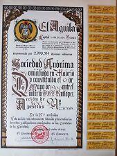 MADRID 1966 * BIRRA  EL AGUILA ** AZIONE ORIGINALE  * AUTENTICA GARANTITA
