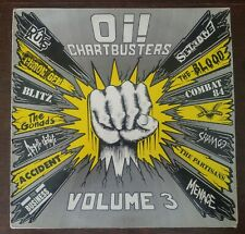 Oi! Chartbusters - Volume 3 Punk Rock UK LP Vinyl Record Link LP034 1988