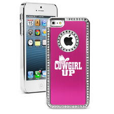 For iPhone 4 4s 5 5s 5c 6 6s Plus Rhinestone Crystal Bling Case Cover Cowgirl Up