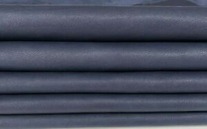 BLUE Calfskin Calf cow Leather crafts bags upholstery skins 5sqf 1.0mm #A7407