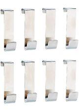 8 Edelstahl Universal-Türhaken Haken Kleiderhaken Tür-Garderobe Edelstahlhaken