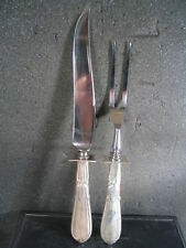 Sterling Schofield CARVING KNIFE & FORK SET Unk Pattern No Mono