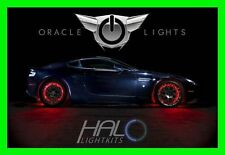 RED LED Wheel Lights Rim Lights Rings by ORACLE (Set of 4) for SAAB MODELS