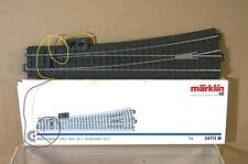 MARKLIN MäRKLIN 24711 C TRACK LEFT HAND POINT 236 mm 12.1 degree with LANTERN pz