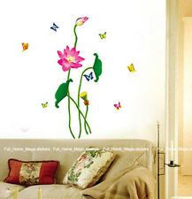 2FOR1 Wall Paper Art Deco Mural Sticker Lotus A+B