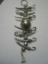 Lemon & Chili Nimbu Mirchi Antique Lucky Charm Evil Eye Metal Hindu Traditional