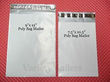 "12 Poly Bag Shipping Envelope Combo 9""x 12"" & 7.5""x 10.5""  Self-Sealing Mailers"