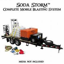 COMPLETE SODA BLASTING SYSTEM ON TRAILER READY TO WORK MOBILE BLASTING SYSTEM