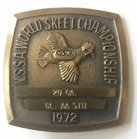 1972 N.S.S.A. WORLD SKEET SHOOTING CHAMPIONSHIP 20 CA. CL AA 5th Pinback Medal