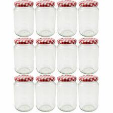 12 Pots à Confiture 370 ml -  Bocaux à confiture avec couvercle