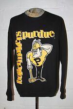 VTG Purdue University Boilermakers HUGE Pete Logo Black Crewneck Sweatshirt XL
