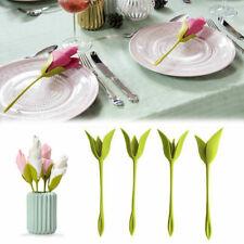 20X Blüte Serviettenhalter Tabelle Kunststoff Twist Blume Serviettenhalter GrünS