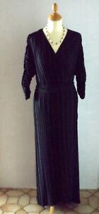 Elegantes festliches Kleid, schwarz, lang, Gr. 52 / 54  neu von Yessica