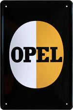 Retro Blechschild 20x30 OPEL Logo Parkplatz Auto Garage Werbeschild
