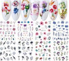 Nail Stickers Water Decals Transfers Seahorses Dandelions Purple Dreams