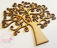 Madera Familia Otoño Hoja árbol Decoupage en blanco Manualidades Navideñas Arte