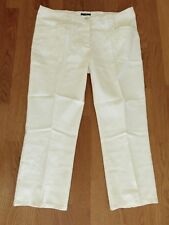Hose H&M 46 NEU Pants Chino Woll Weiß Creme tweed Business Anzug röhre Knöchel