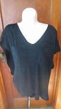 Seneca Rising Black Open Sleeves with a side knot twist Black Size 3 EUC