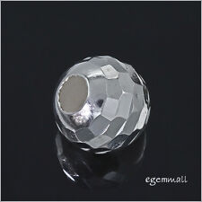 Sterling Silver Disco Laser Faceted Round Spacer Bead 11mm 1pc #51969
