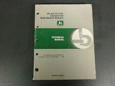 John Deere 48 & 54-Inch Commercial Walk-Behind Mowers Technical Man TM1488  '91