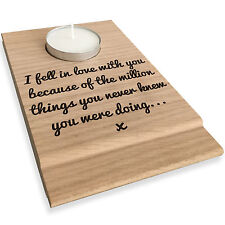 I Fell In Love With You Candle Gift Set Tealight Holder Valentines Day Present