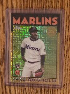 Jazz Chisholm RC 2021 Topps Series 2 1986 Chrome Silver Pack GOLD #14/25 MIAMI