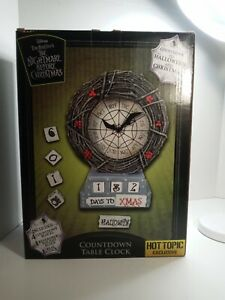 Disney Tim Burtons The Nightmare Before Christmas Countdown Table Clock HotTopic