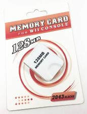 128MB Memory Card Save Game Data - Nintendo Wii NGC Gamecube Console Game White