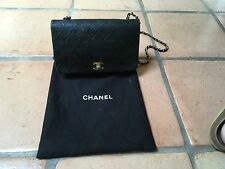 CHANEL QUILTED LAMBSKIN FLAP BAG, BLACK