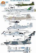 Wolfpak Decals 72-094 sacudido & agita Cessna Dragonfly Lockeed Raptor Mq Reaper